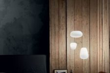 23 these modern floating pendant lamps remind of clouds and brighten up the moody bedroom