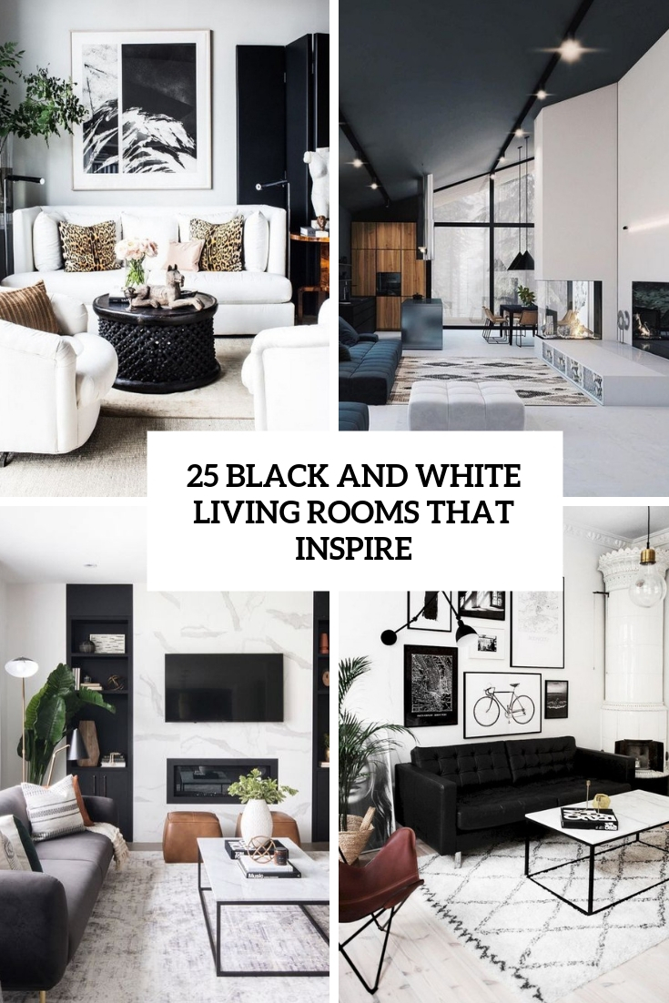 25 Black And White Living Rooms That Inspire