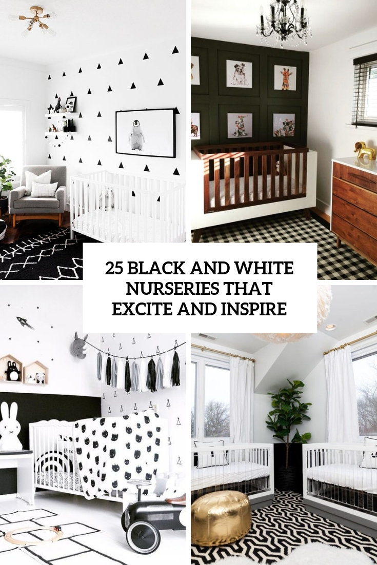 black and white nurseries that excite and inspire cover