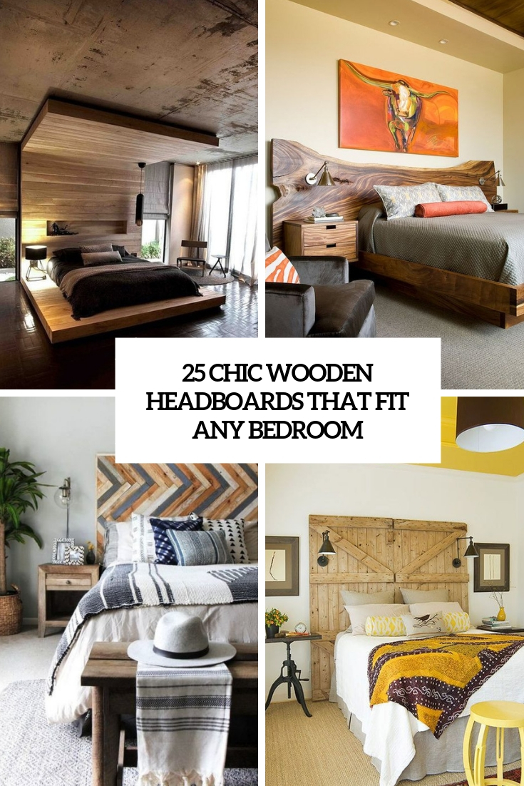 25 Chic Wooden Headboards That Fit Any Bedroom