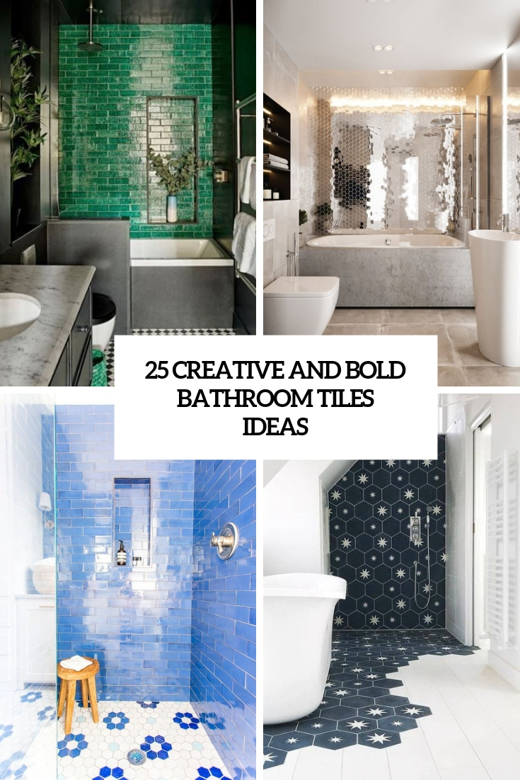 creative and bold bathroom tiles ideas cover