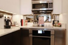 25 under cabinet lights are a nice idea for a really small kitchen, where you can't hang a statement chandelier