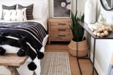 25 wood, plywood, pompoms, succulents and metal make the bedroom catchier and cooler