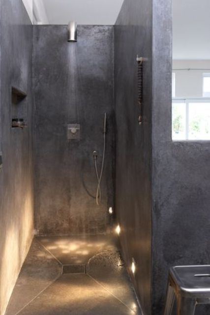 a non-typical idea to build in some lights in the wall and floor to illuminate it evne more gently