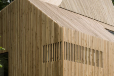 02 The house is fully clad with wood to highlight its lines and shapes and to contrast  the original home