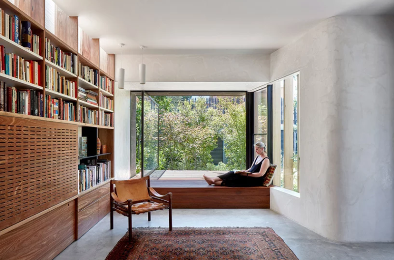 There's an adorable window seating, which opens to a terrace - the window is pivot and is easy to open any time
