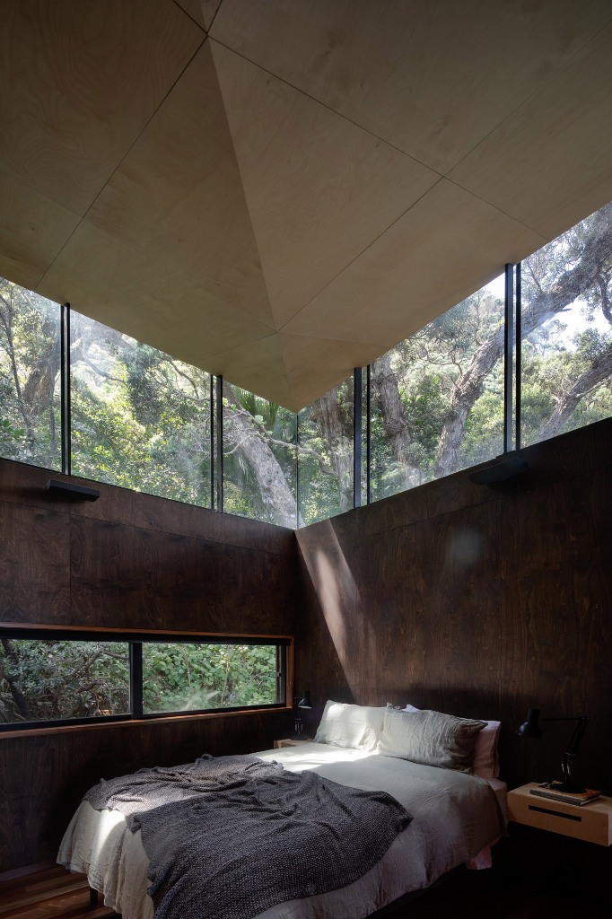 The bedrooms are more private, yet they feature enough light and windows to frame the views, too