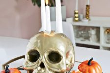 a nice arrangement that could be used as halloween centerpiece