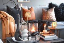 a minimalist arrangement for Halloween decor