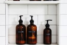 24 elegant and similar amber bottles for bathroom stuff is a cool idea to add color and elegance