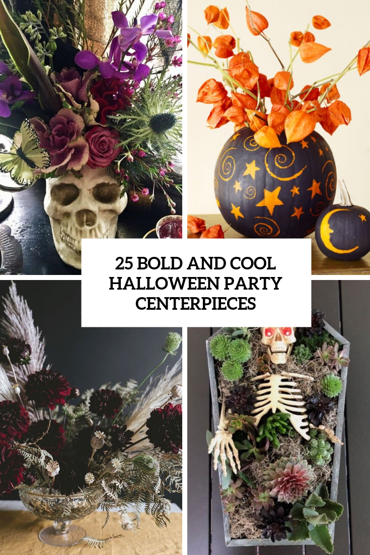 bold and cool halloween party centerpieces cover