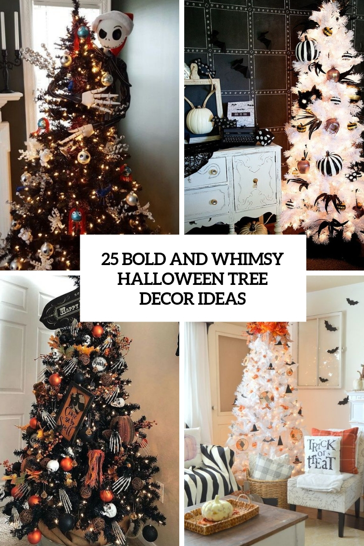 25 Bold And Whimsy Halloween Tree Decor Ideas