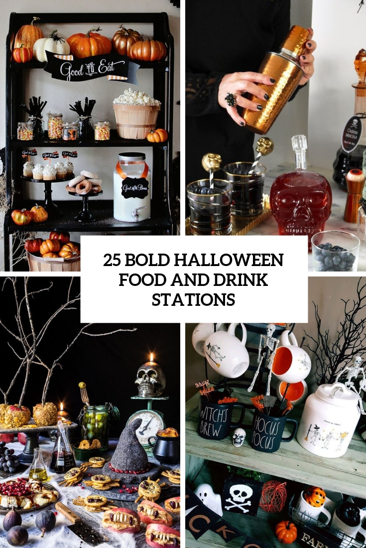bold halloween food and drink stations cover