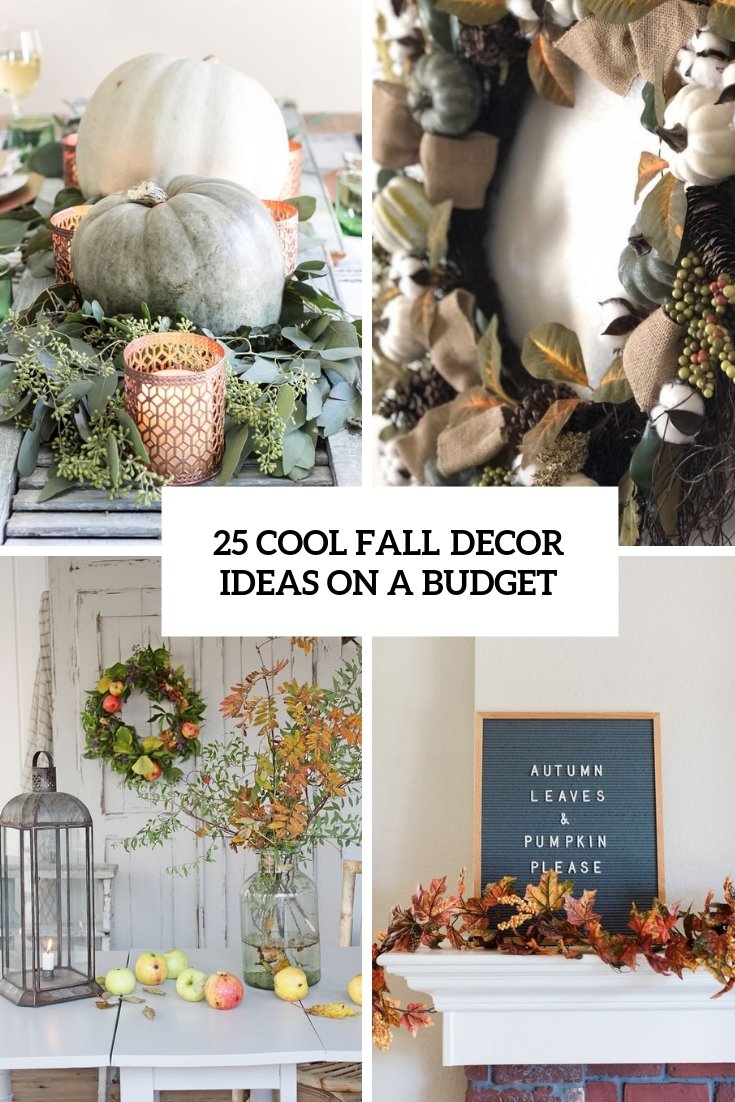cool fall decor ideas on a budget cover