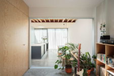 01 This contemporary home extension is a stylish dwelling located on a very small footprint and with a small depth