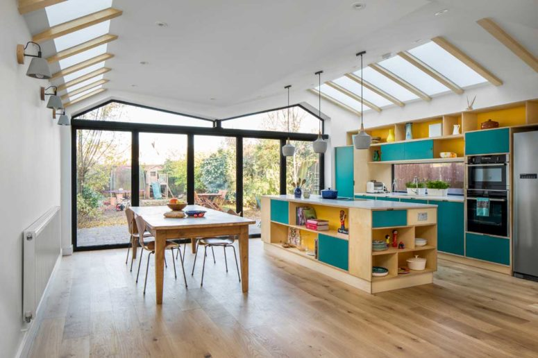 Colorful Contemporary Home With An Extension