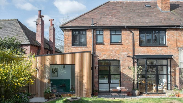 Cedar-Clad Modern Home Extension In Birmingham