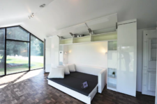 a murphy's bed is always a practical solution for minimalist space