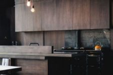 05 change your blasck cabinets to wooden ones and your kitchen will instantly get a cozy vibe