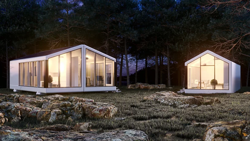 Here's how these houses look on the outside, they connect you with nature and they will be nice options for forest cabins or as holiday homes