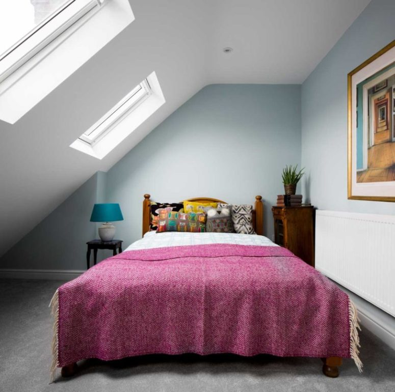a small yet stylish attic bedroom design