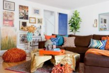 13 a colorful living room done with loads of cobalt blue, turquoise, rust and deep red looks bright and fun