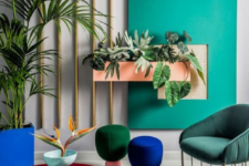 17 a bold living room done in emerald, forest green, cobalt blue and deep red – jewel tones never go out of style