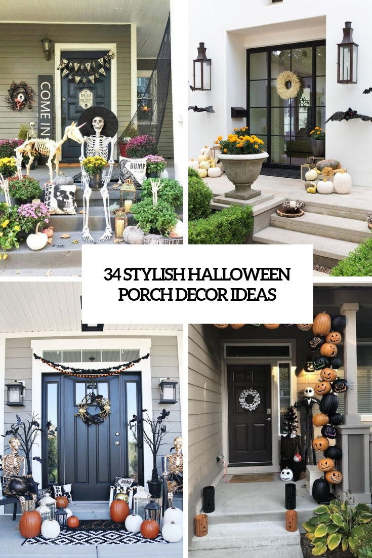 34 Stylish Halloween Porch Decor Ideas