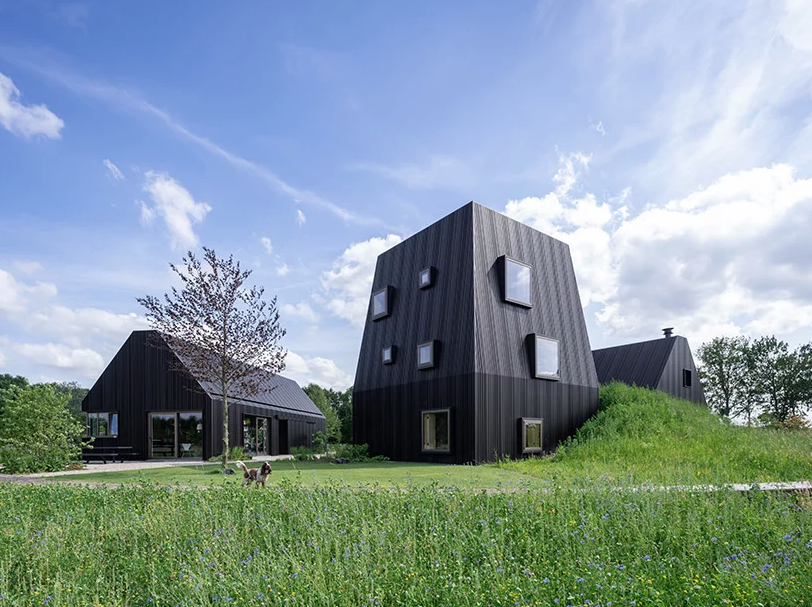 Villa Vught was inspired by Dutch farmhouses and is a fresh take on them