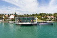 02 This is one-of-a-kind dwelling with a deck over the water and a chic contemporary design