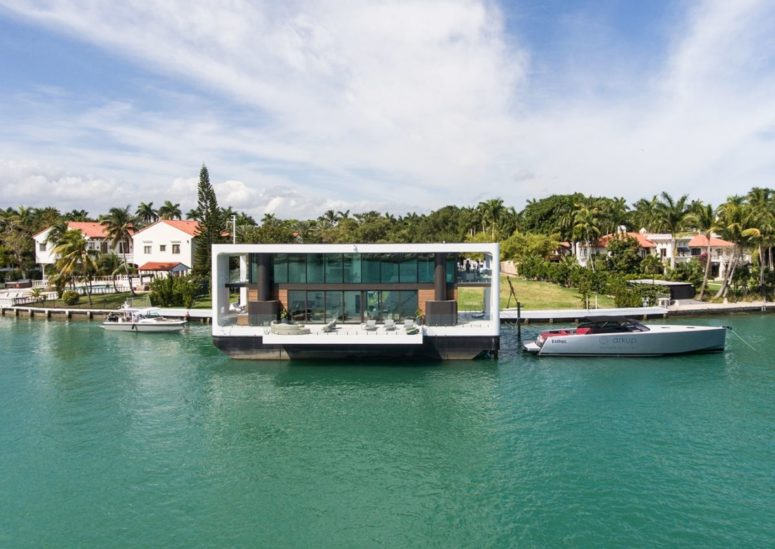 This is one-of-a-kind dwelling with a deck over the water and a chic contemporary design