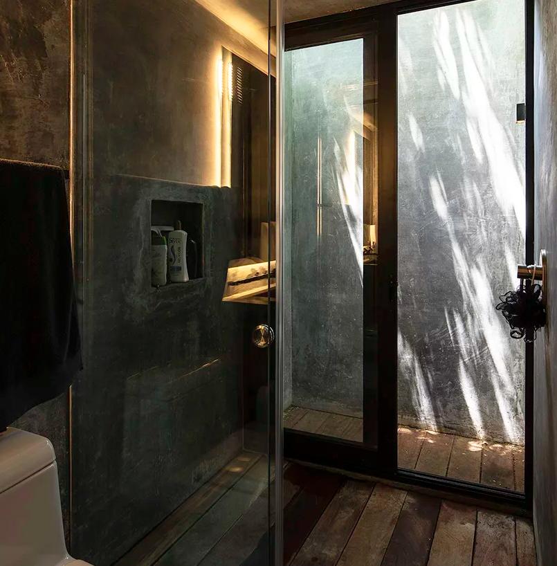 a concrete bathroom design