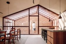 a cozy kitchen design with a wooden island