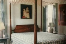 19 a lace cover gives this vintage bedroom a boho and rustic feel making it even cozier than it is