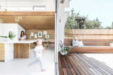 a glazed sliding doors is a good way to combine indoors and outdoors