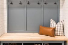 an IKEA Hemnes hack for a comfy and cozy entryway