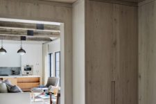 06 Much wood used in decor is a cool and stylish idea for a modern space