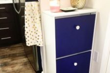 07 a bold IKEA Bissa hack with electric blue fronts and contrasting white knobs for a bold look