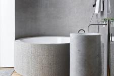 stylish concrete bathroom appliances