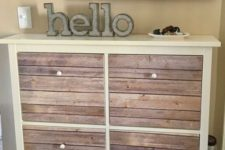 ikea hack to store shoes in an entryway