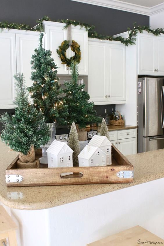 small tabletop christmas trees are perfect to create christmas displays anywhere