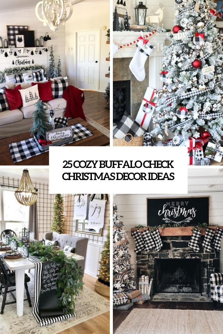 cozy buffalo check christmas decor ideas cover