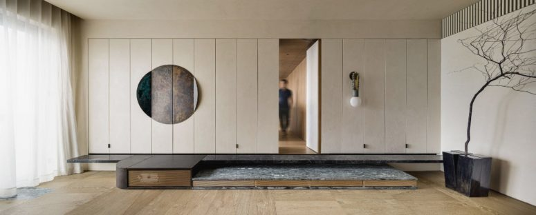 Everything is functional, built-in and hidden, sleek surfaces are highly appereciated