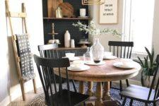 a cozy farmhouse dining room