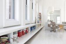 06 The windowsill bench features much hidden storage space