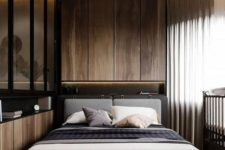 07 achieve a luxurious feel in your bedroom with a chic color palette and gorgeous materials like natural wood and glass