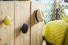 10 an IKEA Ivar cabinet spruced up with large round and colorful handles for a fresh modern look