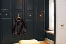 11 an IKEA Pax wardrobe in black with gilded knobs looks very chic and art deco