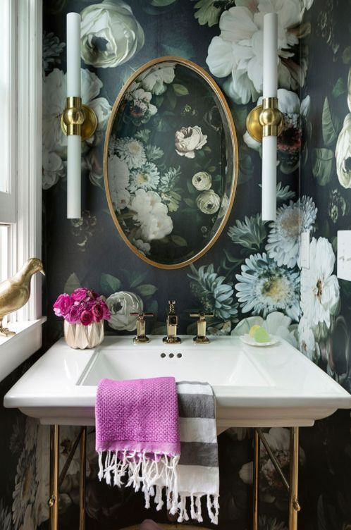 if you love some pattern, keep the whole space in it - be bold and daring