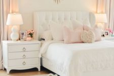 12 a white upholstered bed with a tufted headboard is nice for a cozy and at the same time luxurious bedroom